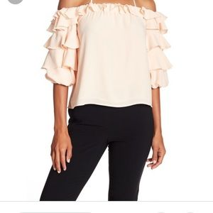 1 State Ruffled Tier Off The Shoulder Top